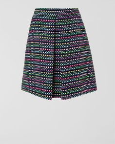 Neon Tweed Skirt