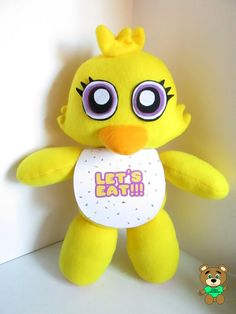 Chica Plush Inspired by FNAF Five Nights at by FabroCreations