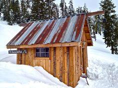 hut overlooking mt. shasta ski park, mt. shasta, california. photographed by jeff wagar.