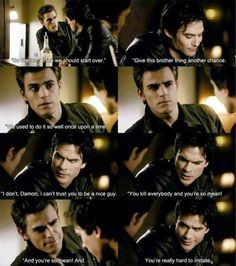 Loved this scene lol #TVD #Damon #Stefan http://allabouttvdcw.blogspot.com/ https://www.youtube.com/channel/UCHLoEl7tEqqYPi-rxD9SgQw