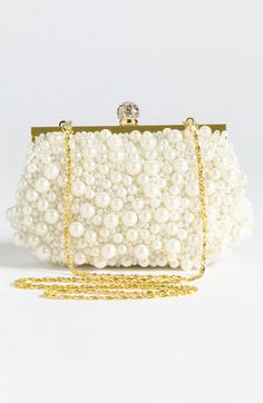Natasha Pearl Clutch | Nordstrom    This is cute and vintage-y      #Nordstromweddings