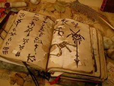Personal Book of Magickian - his 'misty cloud' magic diary.