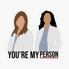 'My Person' Sticker by Tumblr Stickers, Cute Stickers, Desenho Harry Styles, Greys Anatomy Funny, Greys Anatomy Characters, Youre My Person, Meredith Grey, Diy Canvas Art, Aesthetic Stickers