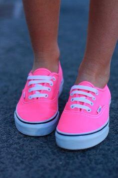pink + neon Vans....love...