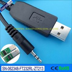 win10 mac android ftdi ft232 usb rs232 to 2.5mm mini audio jack adapter cable