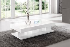Verona Extendable High Gloss Coffee Table In White Looks Brilliant in your living room and Amazed your guests Finish: White High Gloss Features: Coffee Tables Uk, Coffee Table With Storage, Coffee Table Design, Coffee Coffee, Coffee Maker, Center Table Living Room, Simple Living Room Decor, My Living Room, Dinning Table