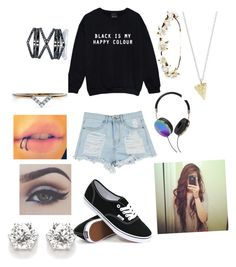 """""""Untitled #24"""" by lets-run-to-the-sea on Polyvore featuring Vans, Eva Fehren, Diamonds Unleashed, Bellezza, Cult Gaia, Frends and Rock 'N Rose"""
