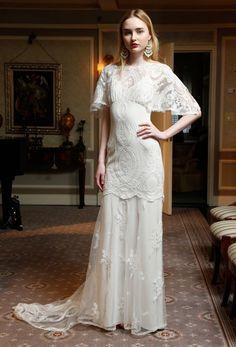 Silverlake wedding dress from Romantique by Claire Pettibone http://clairepettibone.com/blog/2016/04/romantique-california-dreamin/