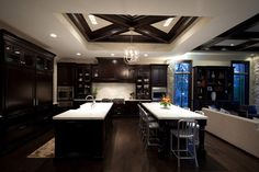 Kitchen Photos Dark Cabinetry Design Ideas, Pictures, Remodel, and Decor
