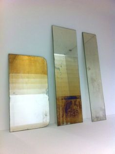 Transcience shows the beauty of the natural oxidizing process of mirrors.    By accelerating and manipulating this process, the Transcience mirrors show various stages of oxidation in three different geometrical patterns.  David Derksen & Lex Pott