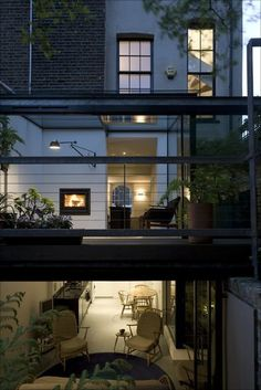 Hay House, Islington, The Georgian terrace was overhauled by Ian Hay Architects with a two-storey glazed addition. Photo: Richard Glover