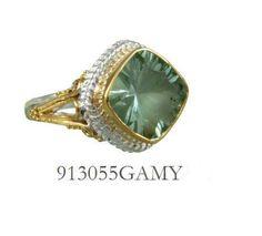 Green Amethyst ring  - Eucalyptus Island Collection