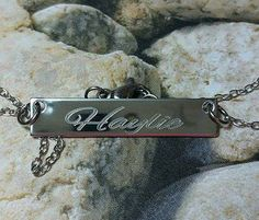 Cursive Name Bar Necklace Engraved Bar Name by iheartpersonalized