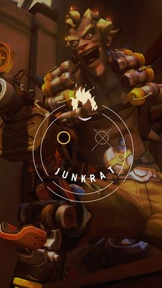Overwatch - Junkrat Wallpaper Mobile, C L W N on ArtStation at https://www.artstation.com/artwork/xmkvO