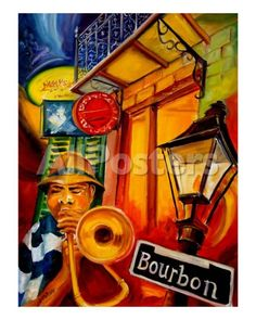 Bourbon Street Jazz Landscapes Art Print - 41 x 51 cm