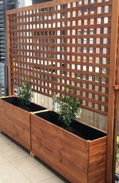 Privacy Landscaping, Backyard Privacy, Backyard Fences, Pergola Patio, Diy Patio, Patio Ideas, Fence Ideas, Landscaping Ideas, Pergola Ideas