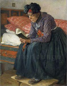 """Domestic Devotions"" by Adolf Hölzel (c. 1888/91)"