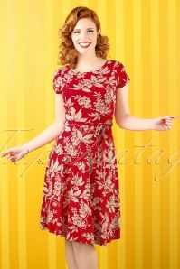 50s Sally Fontaine Dress in Grenadine Red