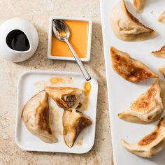 "Recipe: Chinese Pork Dumplings Learn how to prepare Chinese Pork Dumplings from ""America's Test Kitchen from Cook's Illustrated."" - Chinese Pork Dumplings Recipe Recipe and Photo Courtesy of America's Test Kitchen from Cook's Illustrated Dim Sum, Quesadillas, Empanadas, Appetizer Recipes, Appetizers, Appetizer Ideas, Dinner Recipes, Chinese Pork, Chinese Dinner"
