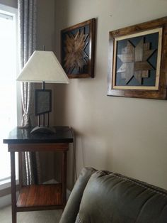 Pallet Lamp table & Wall Pictures