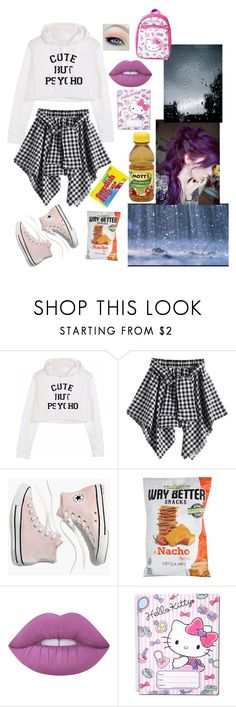 """Play in the rain with me"" by lonely-ravenclaw-girl ❤ liked on Polyvore featuring Madewell, Lime Crime, SANRIO and Younique"