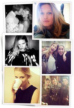 Models on Instagram: Emily DiDonato Lara Stone Toni Garrn Anja Rubik Kasia Struss Rosie Huntington Whiteley Constance Jablonski Izabel Goula...