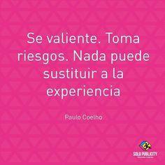 No dejes de tomar riesgos la vida se trata de eso. Excelente día! #solopublicity #hechoenecuador #details #love #instagood #beautiful #happy #amazing #publicity #design #graphic #creative #tag #photooftheday #bestoftheday #instalike #smile #instacool