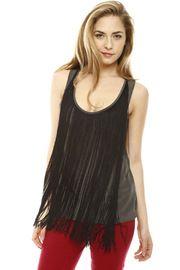Fringe Silk Tunic