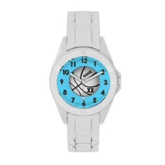 Shop Chevron Aqua Teal and White ZigZag Zig Zags Watch created by VillageDesign. Personalize it with photos & text or purchase as is! Sporty Watch, Warrior Workout, Gifts Love, Unique Gifts, Girl Gifts, Watch Faces, Michael Kors Watch, Bracelet Watch, Aqua