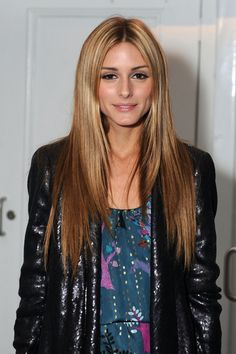 Olivia Palermo honey blonde