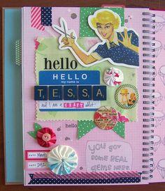 Hello Smash Book Page by Tessa Buys, via Flickr