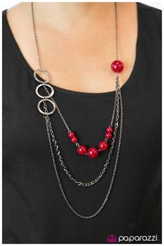 . www.facebook.com/paparazzibytarra    ... Paparazzia jewelry and accessories all just $5.00 each... great stocking stuffers for Christmas.You Are Crimping My Style - Red
