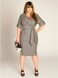 This Allegra Summer Jacket presents a casual interpretation of the classic skirt suit. With breathable woven fabric, generous cuffed sleeves secured by buttons, and contouring princess seams for curve-enhancing fit - this beauty can be worn belted or belt free. Add the Candace Flirty Pencil Skirt and a bright colored blouse and you're set for summer days at the office..