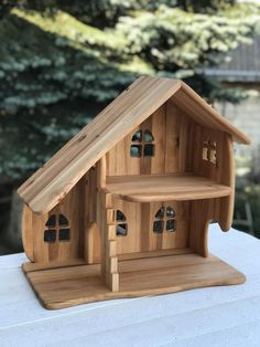Wooden Dollhouse, Wooden Dolls, Dollhouse Furniture, Dollhouse Ideas, Wooden Man, Popular Toys, Waldorf Toys, Little Houses, Custom Items