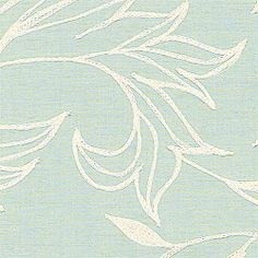 SHALIMAR EMBROIDERY, Aqua, W88016, Collection Cypress from Thibaut