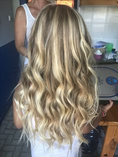 Blonde hair with highlights  Curls