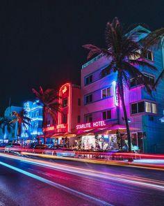 This is real life color. Ocean Drive, Miami Beach, FL by Diego Meneses This is real life color. Ocean Drive, Miami Beach, FL by Diego Meneses Miami Beach, Miami Florida, Miami Ocean Drive, Miami Art Deco, City Aesthetic, Retro Aesthetic, Beach Aesthetic, Photowall Ideas, Miami Vice