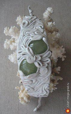 браслет из кожи белый с ониксом - украшения из кожи, авторский браслет. МегаГрад - портал авторской ручной работы