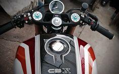 custom cafe racer by JD Max Motors Cb750 Cafe Racer, Cafe Racer Bikes, Cafe Racers, Custom Cafe Racer, Cafe Racer Build, Custom Street Bikes, Custom Bikes, Honda Cbx 1050, Ducati 1000