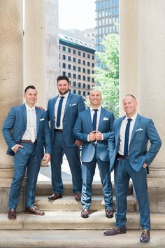 Navy blue fitted J Crew suits
