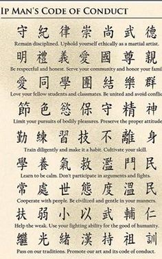 Ip Man's Code of Conduct