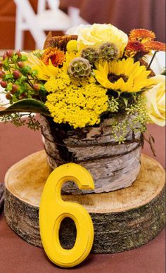 Fall centerpieces Repined by Allan's Flowers, Prescott Florist