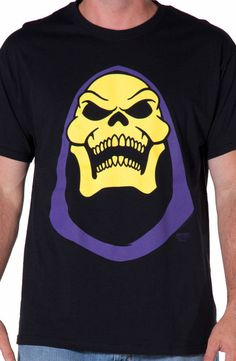 LOL Skeletor Shirt: Cartoons: Masters Of The Universe: He-Man, & Department: Adult Mens, & Color: Black He Man Shirt, T Shirt, Butch Fashion, Retro Shirts, Cool Things To Buy, Stuff To Buy, Cool Outfits, Lol, My Style