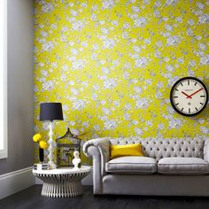Graham and Brown: Living Room Wallpaper: Decorating Ideas: Interiors