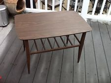 Mid Century Danish Modern Wood Lane Teak Coffee End Side Table 2...