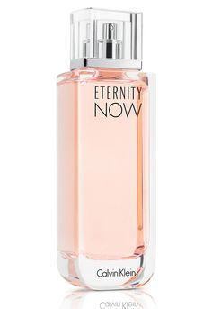 Calvin Klein Eternity Now ~ Top notes: lychee, quince sorbet; Heart: peony, peach blossom, neroli; Base: cashmere, ambrox, musk