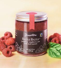 Organic raspberry and basil jam