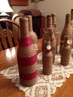 "Multi color ""Twine"" Bottles"