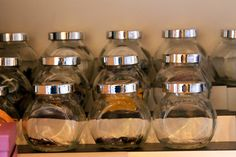 Herb Storage Jars. Prefer These If I Can Find Them.