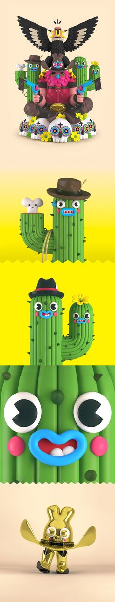 The Colorful, Fun and Hilarious Illustrations of 'El Grand Chamaco' Simple Character, Game Character, Character Design, Cinema 4d, Character Illustration, Illustration Art, 3d Illustrations, Modelos 3d, 3d Artwork